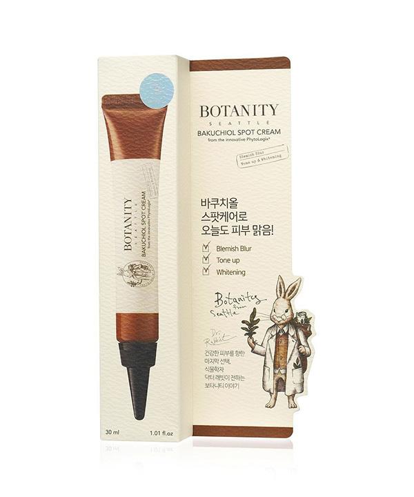 Увлажняющий крем от морщин и пигментации с бакучиолом Botanity Bakuchiol Spot Cream (30 ml)