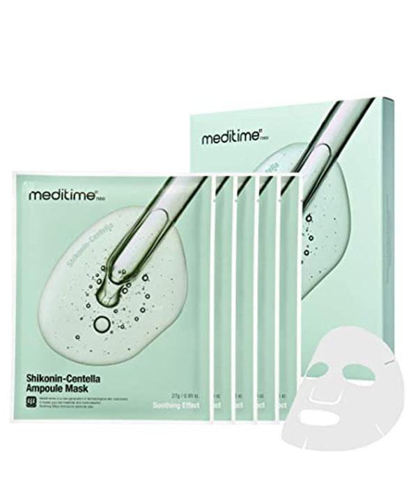 Успокаивающая маска с центелой и шиконином Meditime Shikonin Centella Ampoule Mask (1 шт)