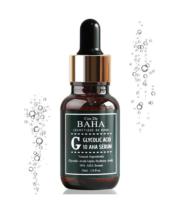 Сыворотка для создания гладкой кожи с гликолевой кислотой и гамамелисом Cos De BAHA Glycolic Acid 10 Aha Serum (30 ml)