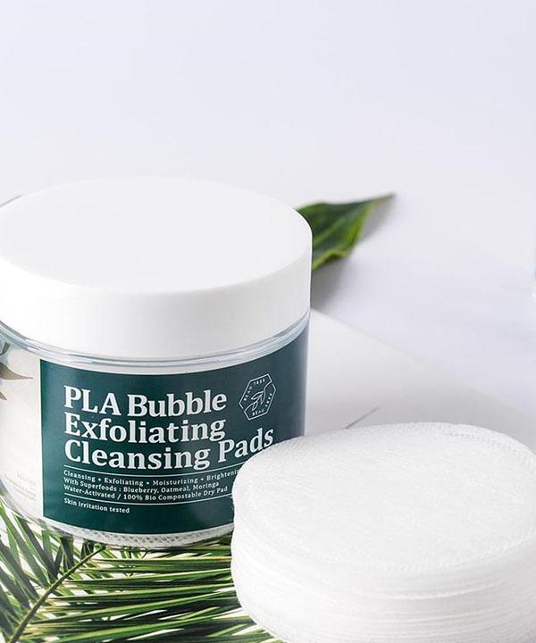 Очищающие и отшелушивающие пэды Meditime PLA Bubble Exfoliating Cleansing Pads