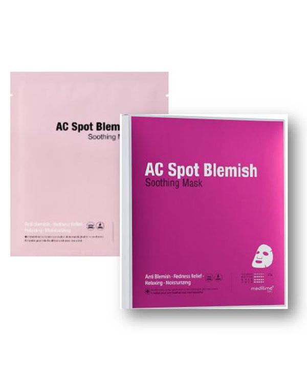 Успокаивающая маска против воспалений Meditime Ac Spot Blemish Soothing Mask 1 шт