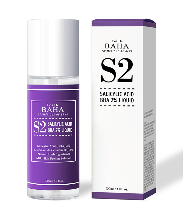 Тоник для борьбы с комедонами и расширенными порами Cos De BAHA Salicylic Acid BHA 2% Liquid (120 ml)