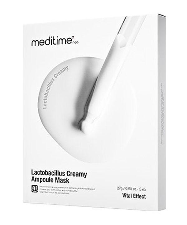 Маска для восстановления кожи с пробиотиками Meditime Lactobacillus Creamy Ampoule Mask (1шт)
