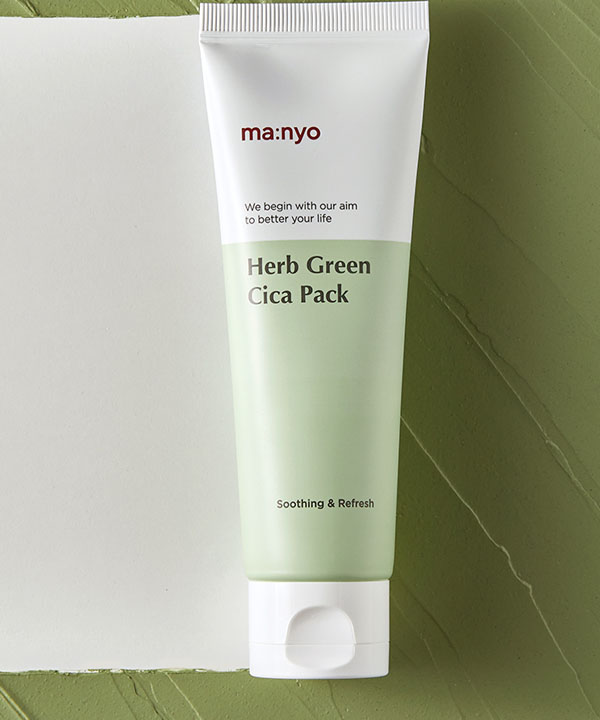 Успокаивающая маска для лица Маньо с экстрактом зеленого чая Manyo Herb Green Cica Pack (75 ml)