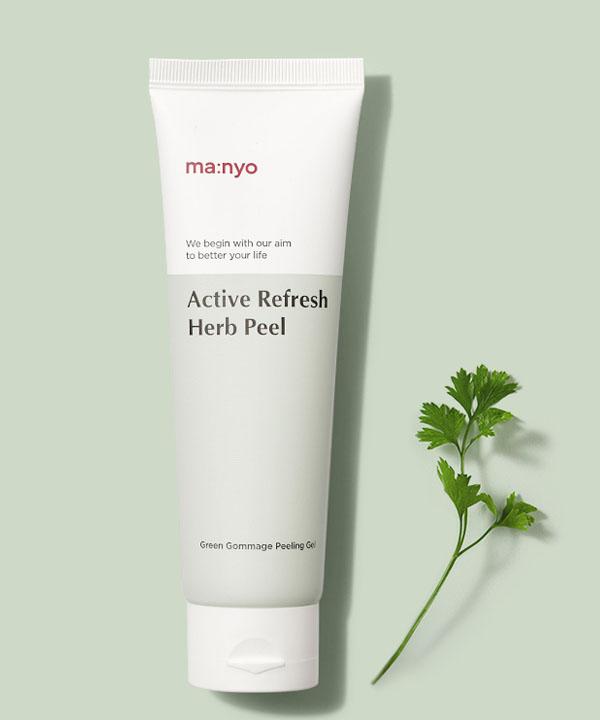 Деликатный пилинг для лица на основе травяного комплекса Manyo Active Refresh Herb Peel (120 ml)