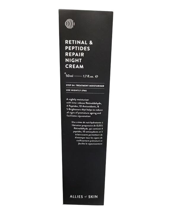 Ночной восстанавливающий пептидный крем с ретиналем ALLIES OF SKIN Retinal & Peptides Repair Night Cream (50 ml)
