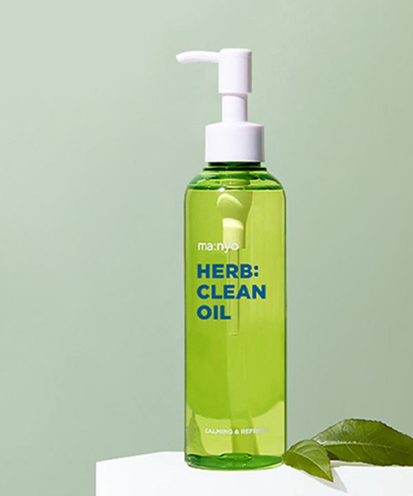 Очищающее гидрофильное масло Маньо с экстрактами трав Manyo Herbgreen Cleansing Oil (200 ml)