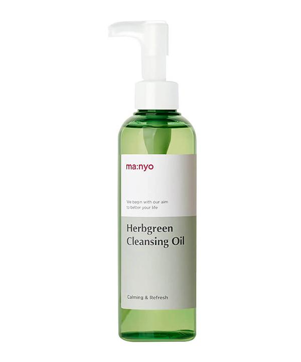 Очищающее гидрофильное масло с экстрактами трав Manyo Herbgreen Cleansing Oil (200 ml)