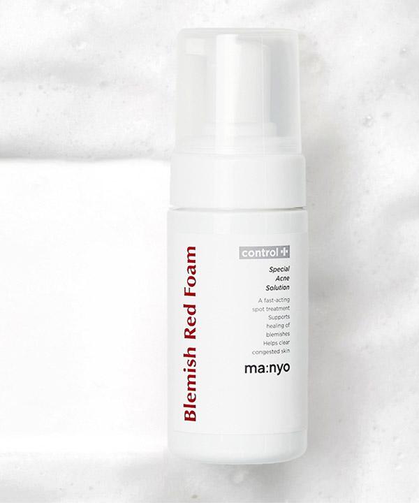 Очищающая пенка от черных точек и воспалений для проблемной кожи Manyo Blemish Red Foam (100 ml)