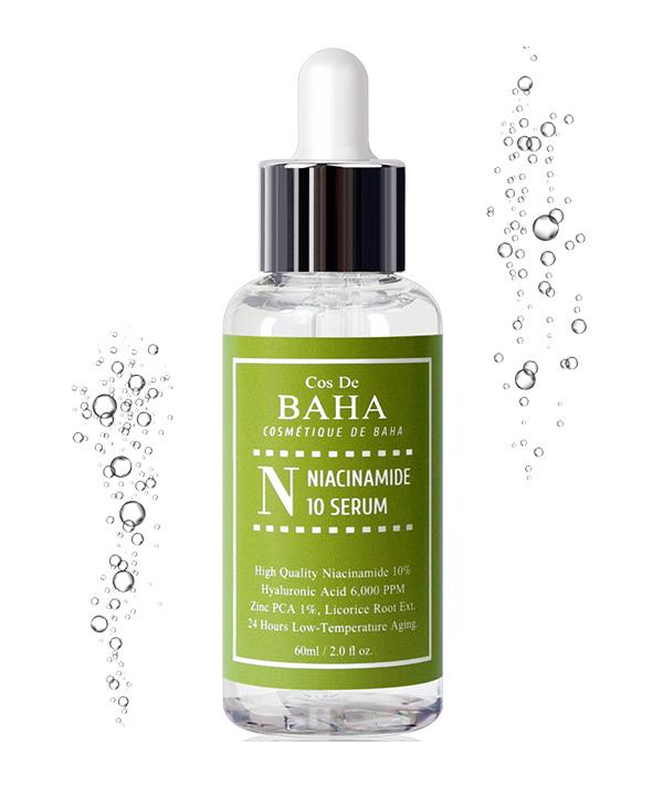 Сыворотка для сужения пор Cos De BAHA Niacinamide 10 Serum (60 ml)