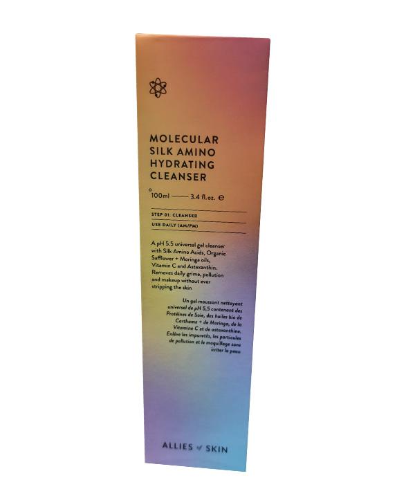 Бессульфатная гель-пенка с аминокислотами шелка Allies of Skin Molecular Silk Amino Hydrating Cleanser (100 ml)