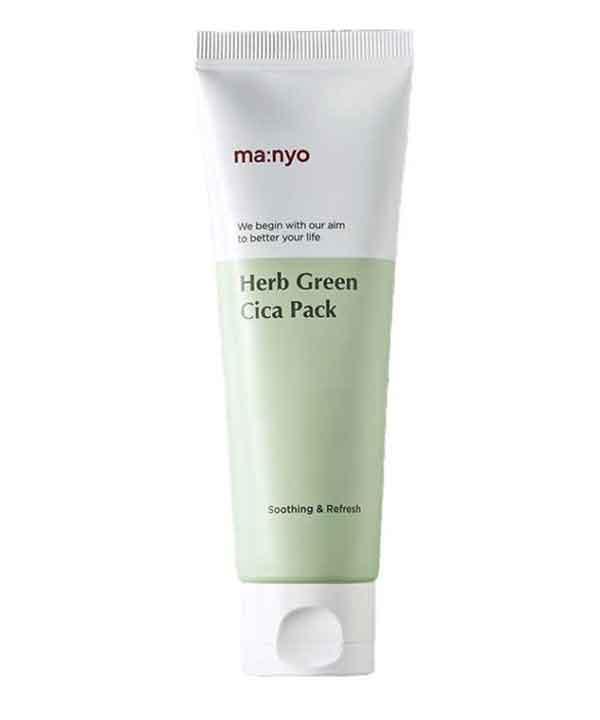 Успокаивающая маска для лица с экстрактом зеленого чая Manyo Herb Green Cica Pack (75 ml)