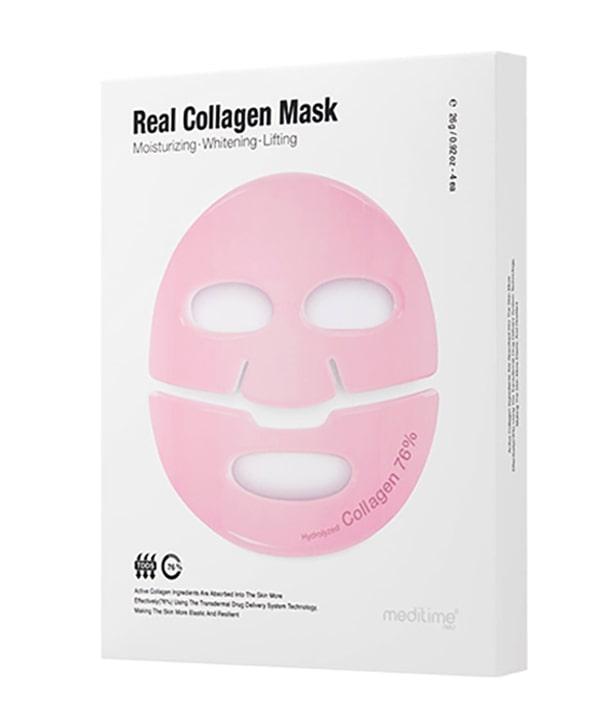 Лифтинг маска для лица с коллагеном Meditime NEO Real Collagen Mask