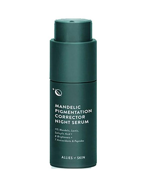 Миндальная ночная сыворотка против пигментации Allies of skin Mandelic Pigmentation Corrector Night Serum (30 ml)