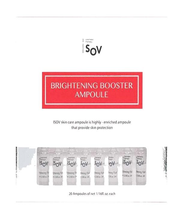 Набор из 20 ампульных сывороток для мгновенного эффекта сияющей кожи iSOV Brightening Booster Ampoule