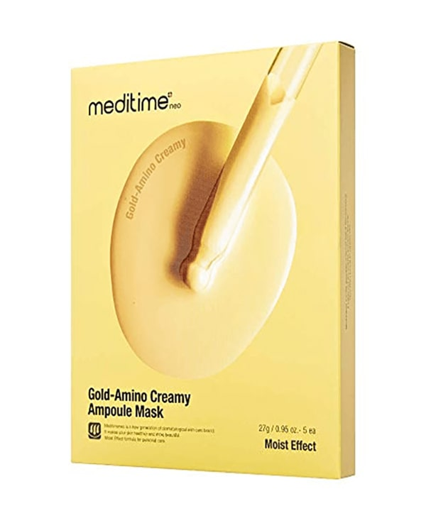 Питательная маска для лица с аминокислотами Meditime Gold Amino Creamy Ampoule Mask