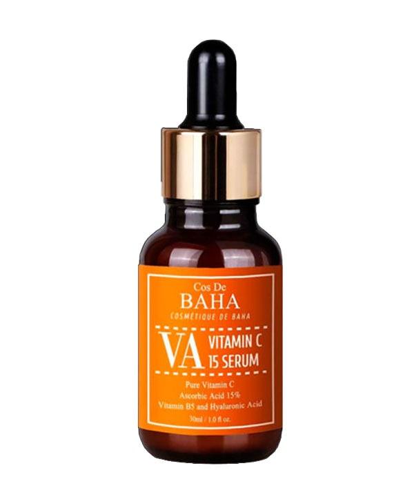 Антивозрастная сыворотка для сияния кожи с витамином С и пантенолом Cos De BAHA Vitamin C 15% Ascorbic Acid (30 ml)
