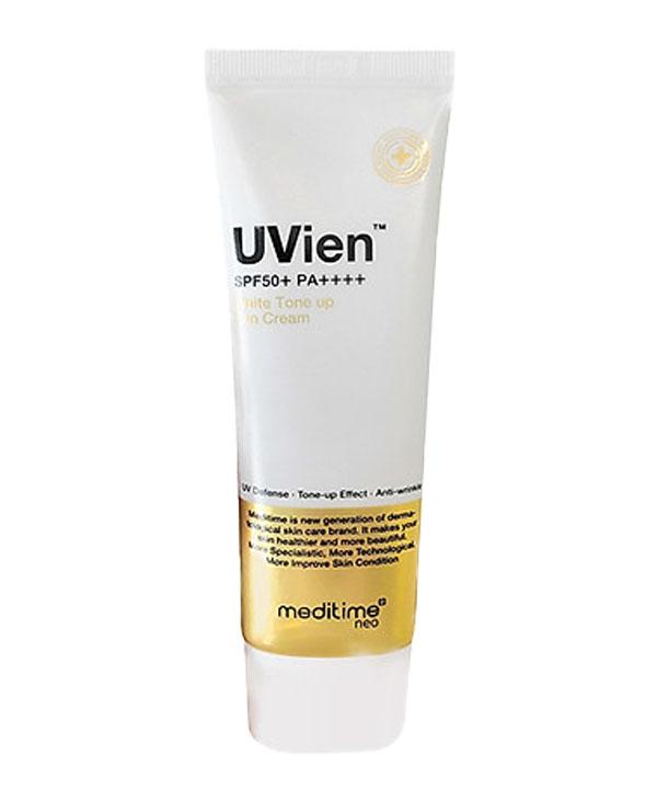 Универсальный солнцезащитный крем Meditime Neo Uvien White Tone Up Sun Cream SPF 50+ PA++++
