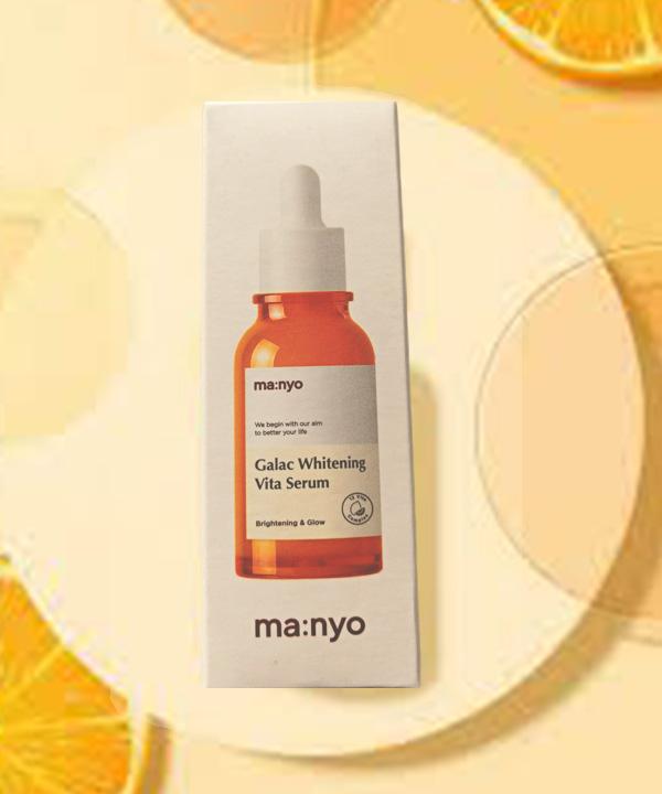 Маньо Мультивитаминная осветляющая сыворотка для уставшей, тусклой кожи Manyo Galac Whitening Vita Serum 50 ml