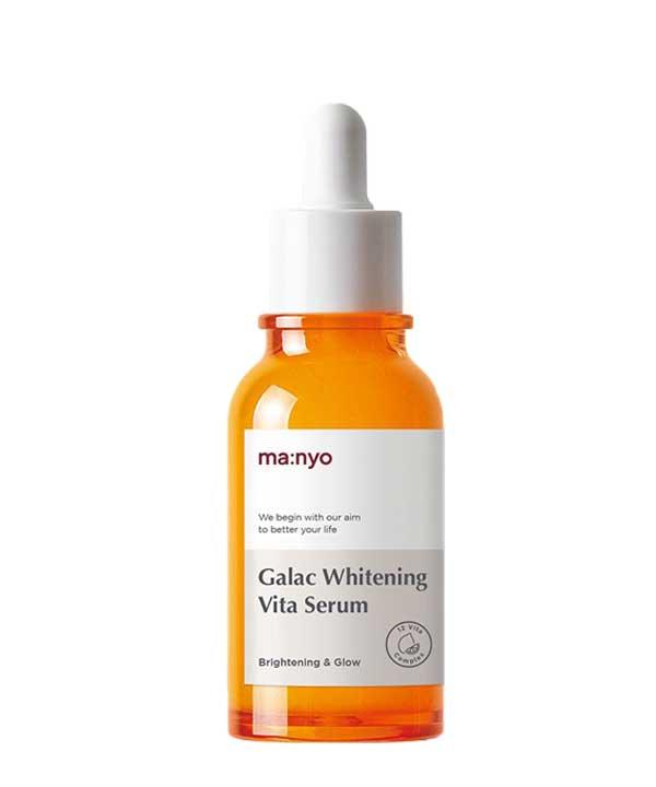 Мультивитаминная осветляющая сыворотка для уставшей, тусклой кожи Manyo Galac Whitening Vita Serum 50 ml