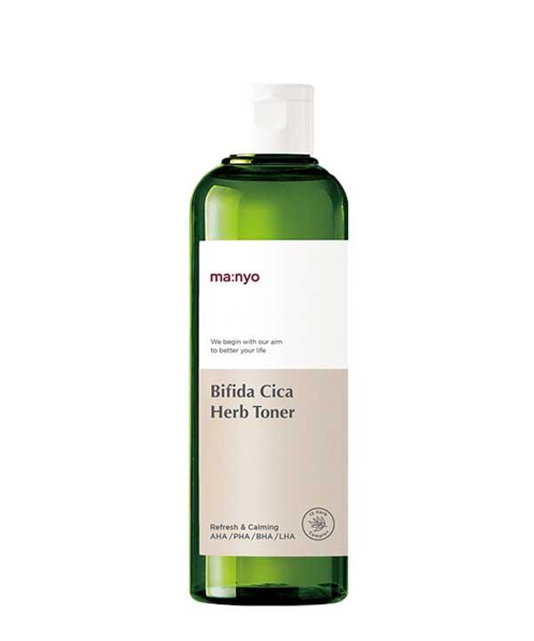 Очищающий тоник для тонкой и чувствительной кожи Manyo Bifida Cica Herb Toner (210 ml)