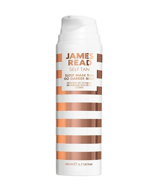 Ночная маска для тела уход и загар темная James Read Sleep mask tan body dark (200 ml)