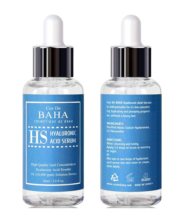 Сыворотка от морщин с гиалуроновой кислотой Cos De Baha Pure Hyaluronic Acid Serum (60 ml)
