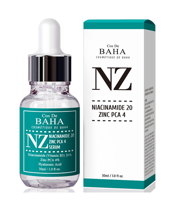 Сыворотка для предотвращения акне, расширенных пор и неровного тона кожи Cos De BAHA Niacinamide 20% + Zinc 4% Serum for Face (30 ml)