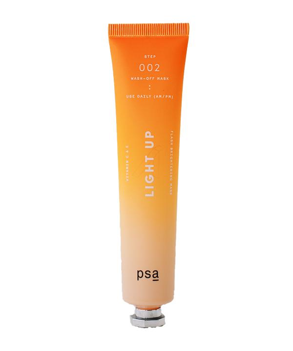 Маска для лица с витаминами С и Е PSA Light Up Vitamin C and E flash brightening mask (60 g)