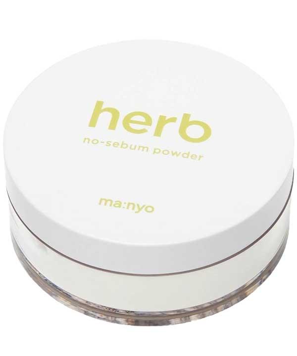 Матирующая рассыпчатая пудра с комплексом трав Manyo Herb Green No-Sebum Powder (6.5g)