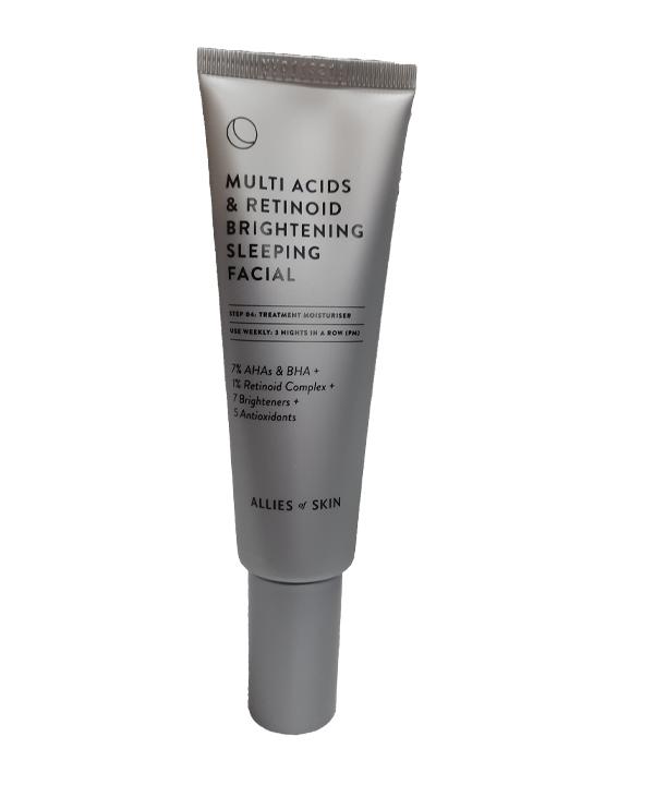 Ночной мультикислотный пилинг Allies of Skin Multi Acids & Retinol Brightening Sleepihg Facial (50 ml)