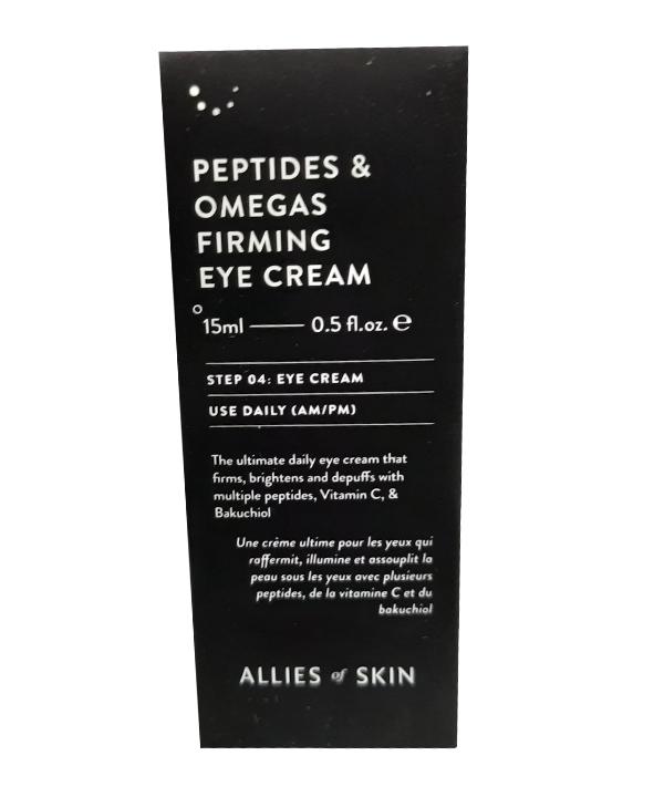 Укрепляющий крем для кожи вокруг глаз с пептидами и омега-комплексом Allies of Skin Peptides & Omegas Firming Eye Cream (15 ml)