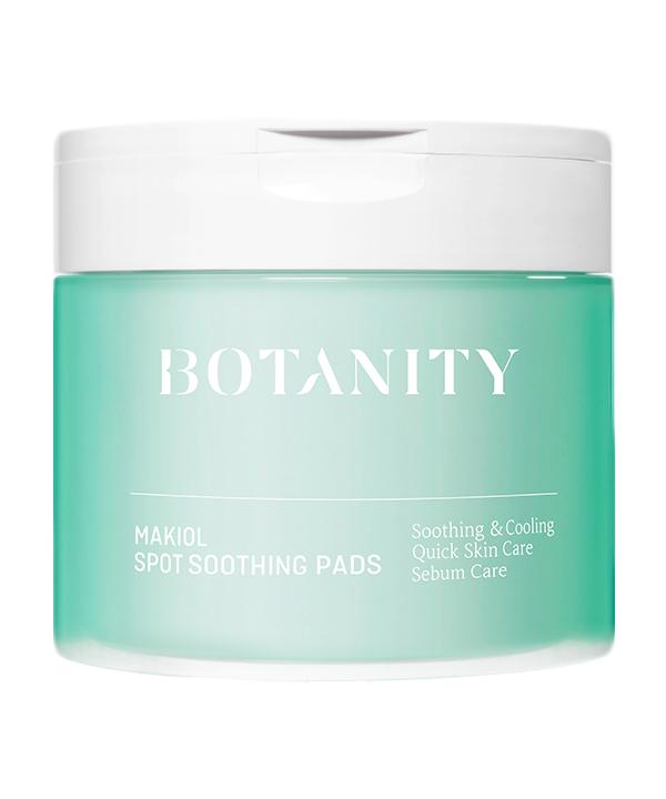 Пэды для лица успокаивающие Botanity Makiol spot soothing pads (60 шт./90 мл)